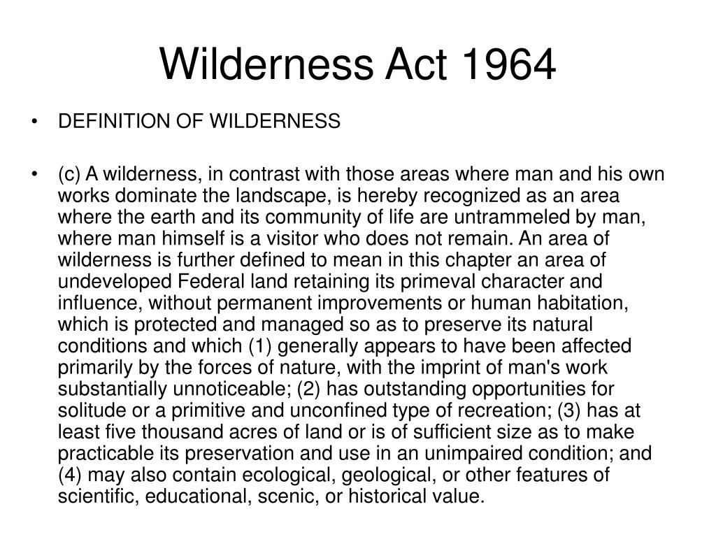 Wilderness Act 1964