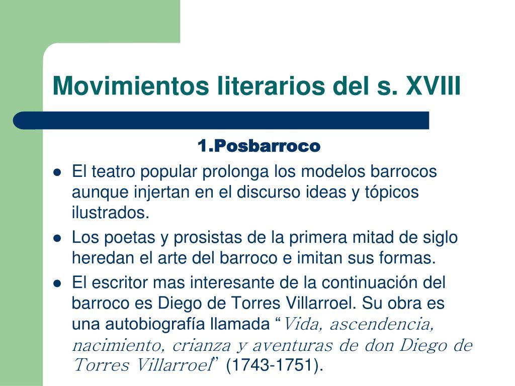 Movimientos literarios