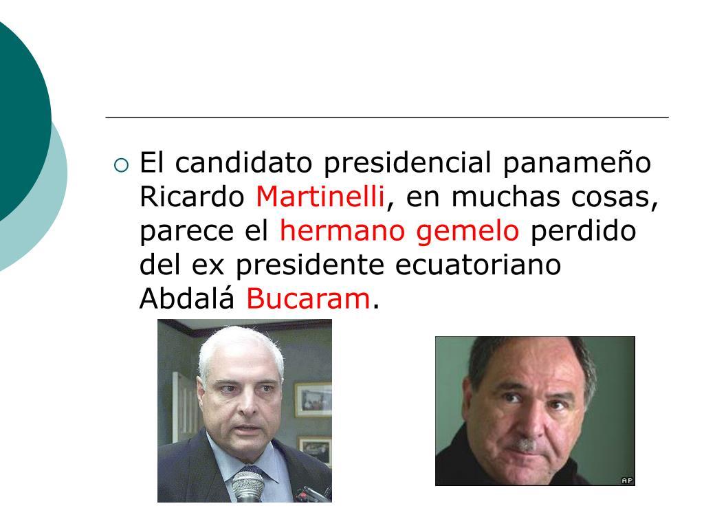 El candidato presidencial panameño Ricardo