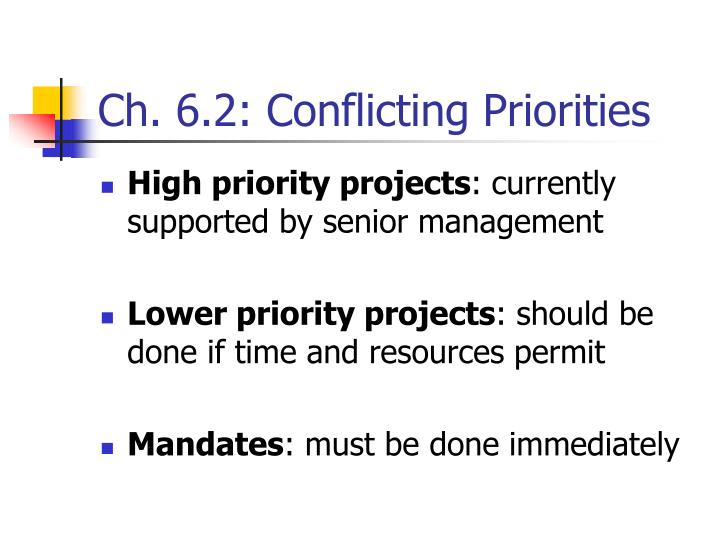 Ch. 6.2: Conflicting Priorities
