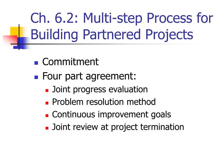 Ch. 6.2: Multi-step Process for Building Partnered Projects