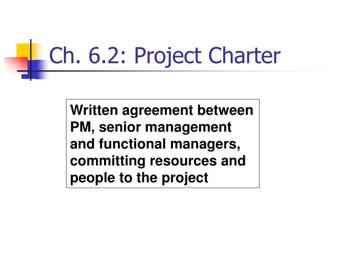 Ch. 6.2: Project Charter
