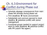 ch 6 3 environment for conflict during phase out