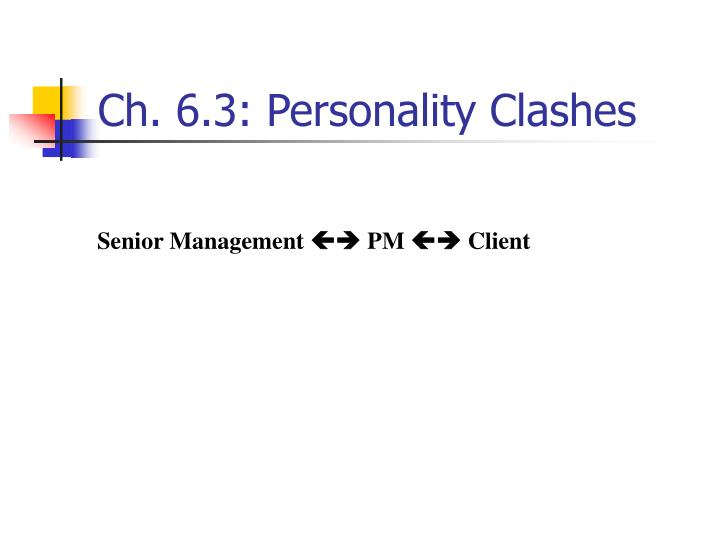 Ch. 6.3: Personality Clashes
