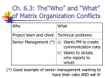 ch 6 3 the who and what of matrix organization conflicts