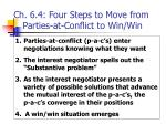 ch 6 4 four steps to move from parties at conflict to win win