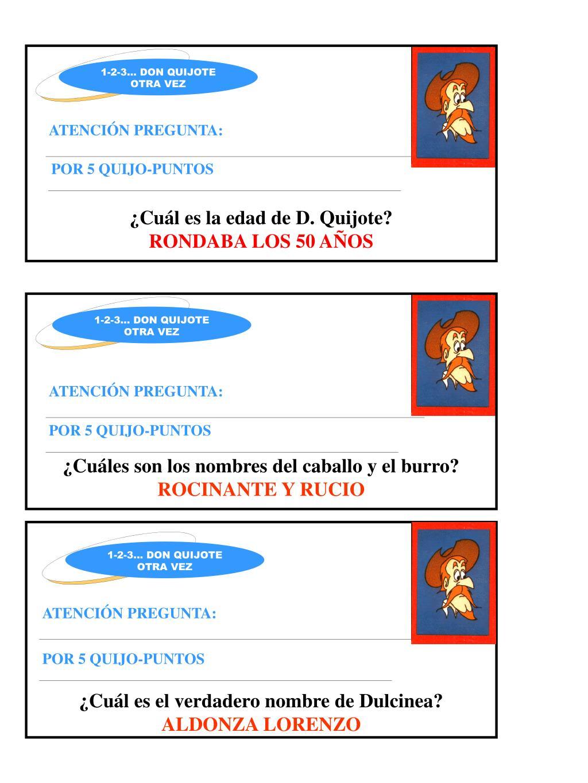 ¿Cuál es la edad de D. Quijote?
