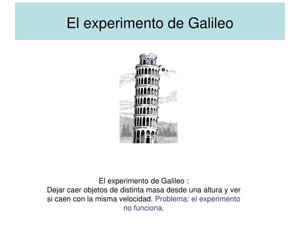 El experimento de Galileo