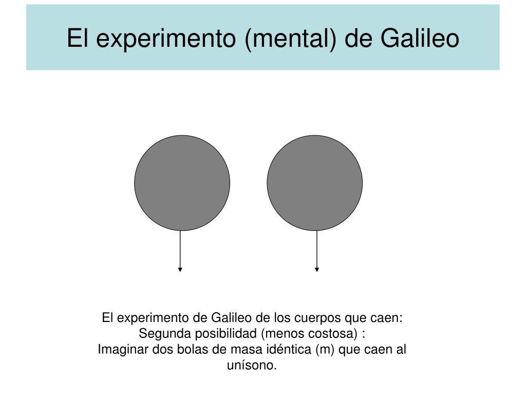 El experimento (mental) de Galileo