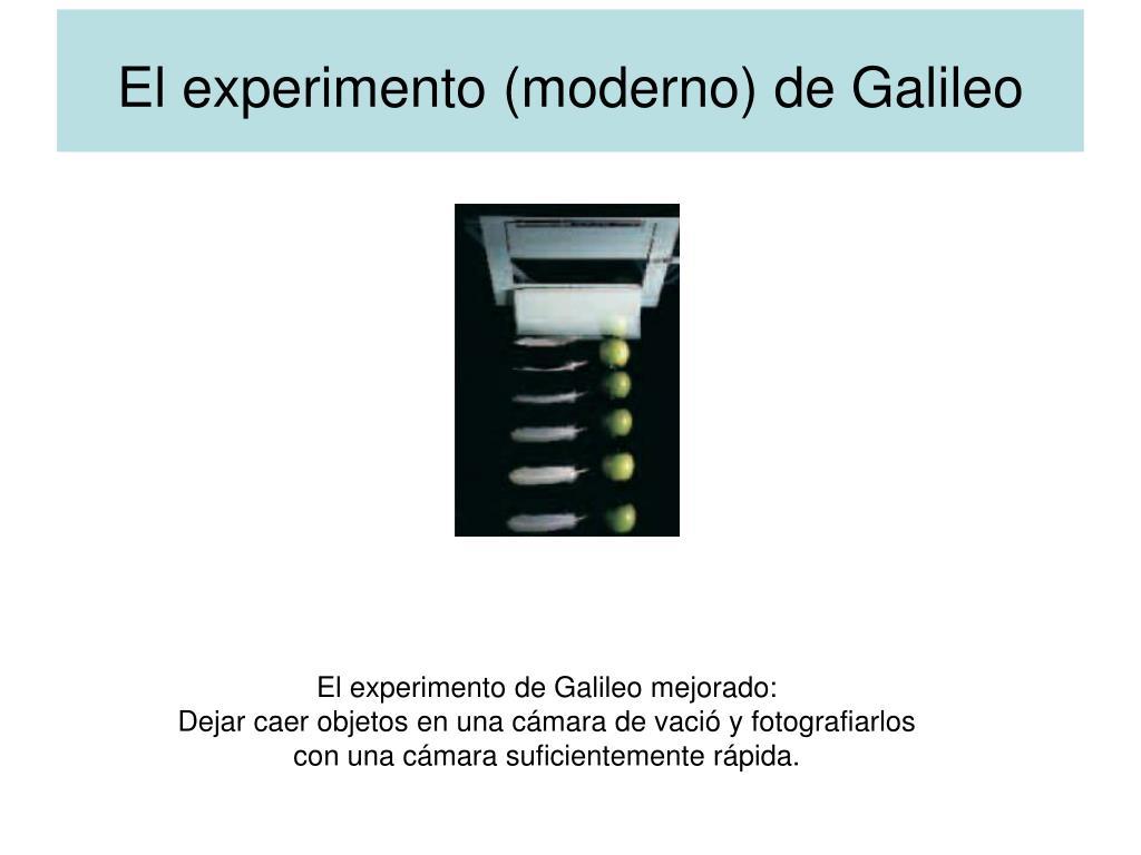 El experimento (moderno) de Galileo