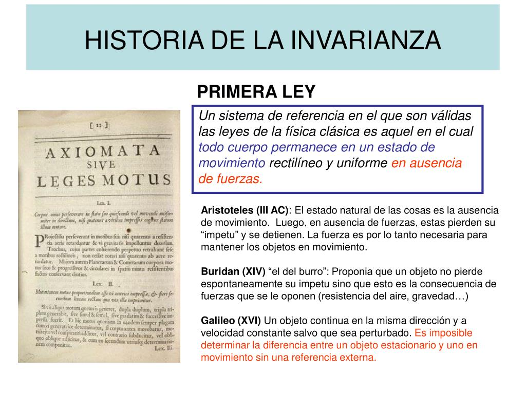 HISTORIA DE LA INVARIANZA
