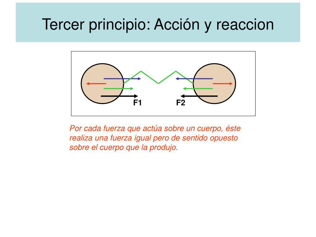 Tercer principio: Acción y reaccion