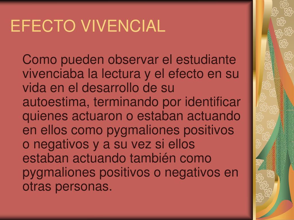 EFECTO VIVENCIAL