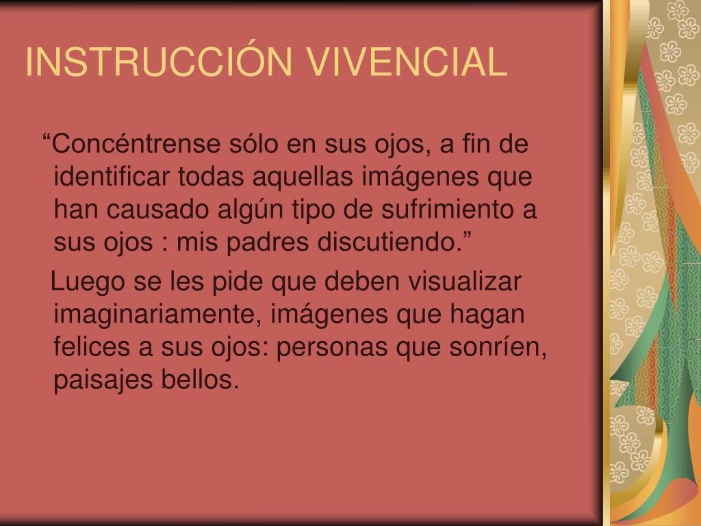 INSTRUCCIÓN VIVENCIAL