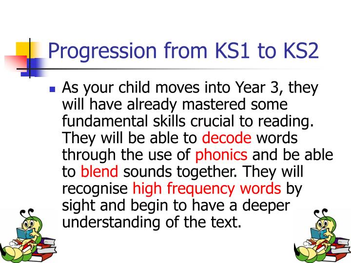 Progression from KS1 to KS2