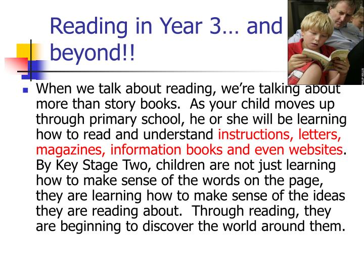Reading in Year 3… and beyond!!