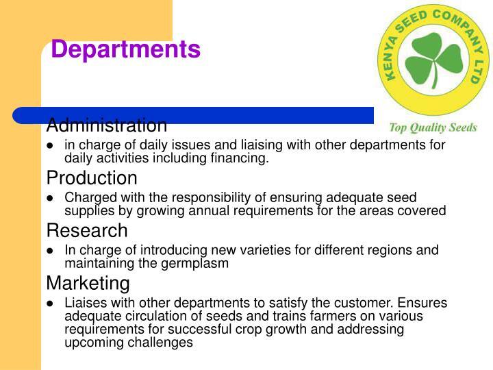 Departments