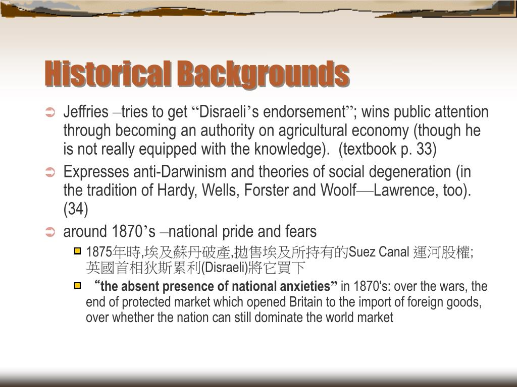 Historical Backgrounds
