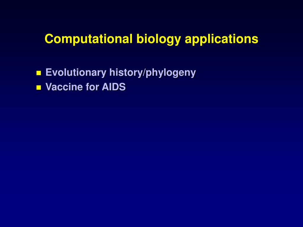Computational biology applications
