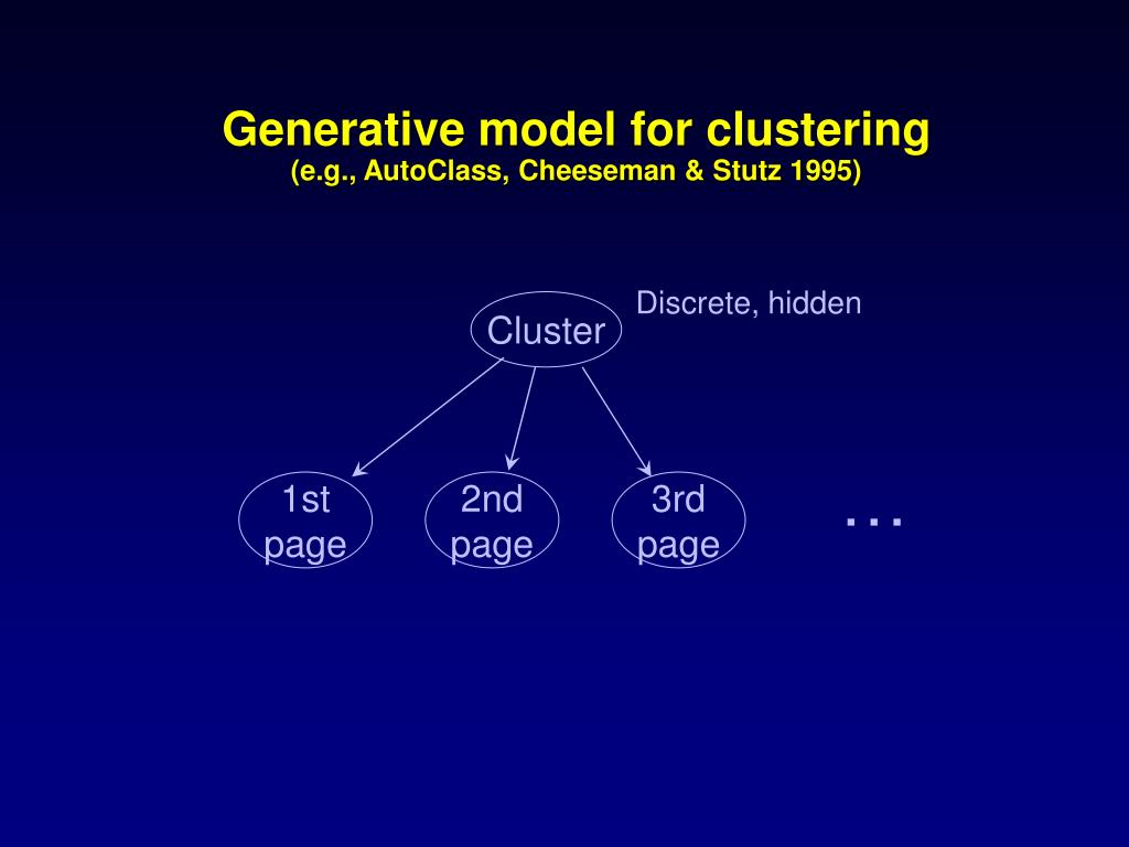 Generative model for clustering