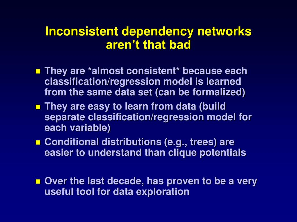 Inconsistent dependency networks aren't that bad