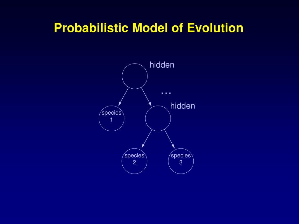 Probabilistic Model of Evolution
