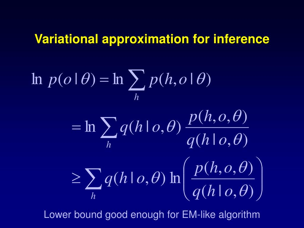 Variational approximation for inference