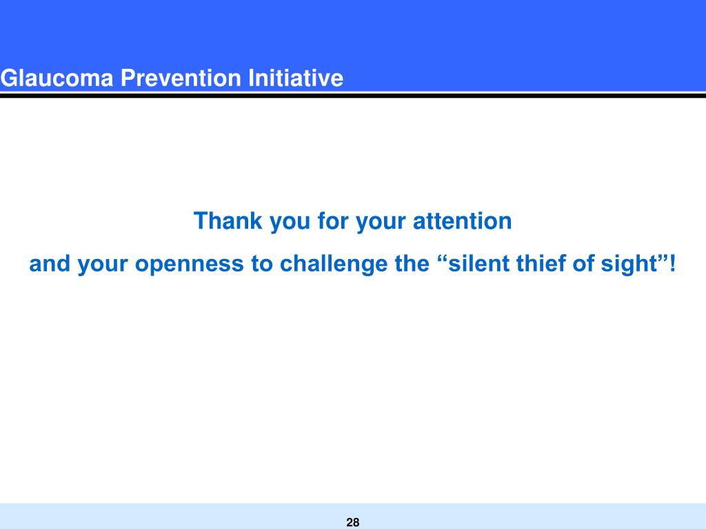 Glaucoma Prevention Initiative