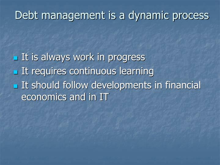 Debt management is a dynamic process