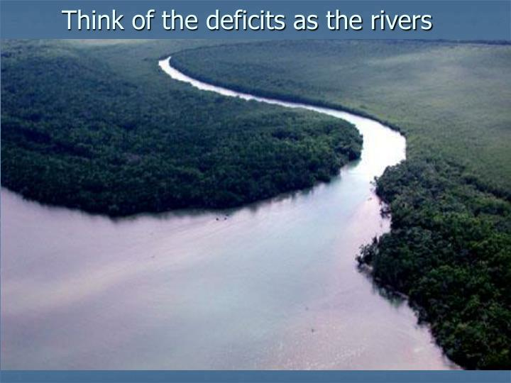 Think of the deficits as the rivers