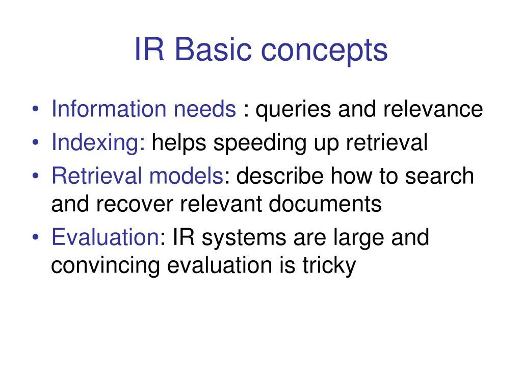 IR Basic concepts
