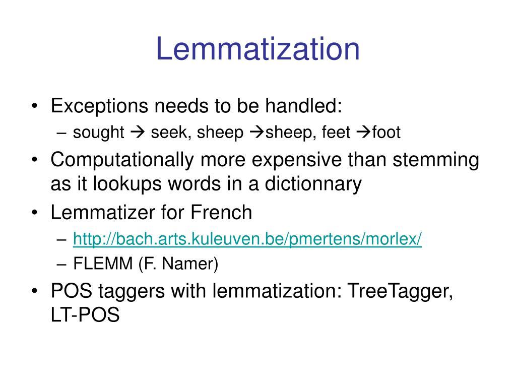 Lemmatization