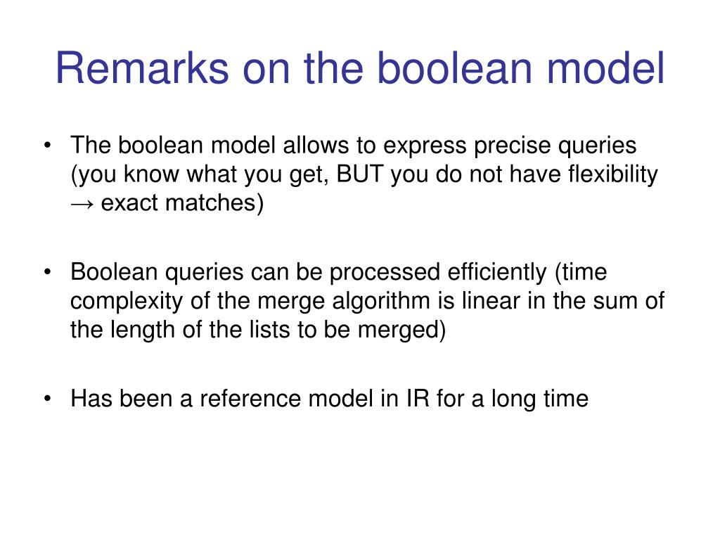 Remarks on the boolean model