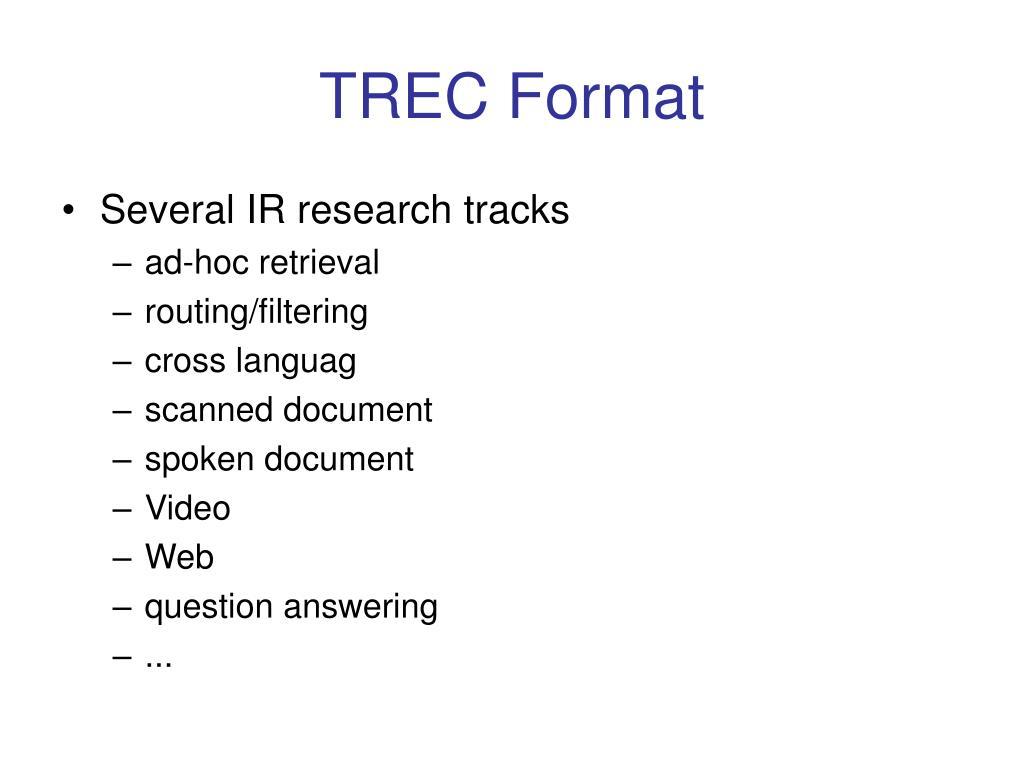 TREC Format