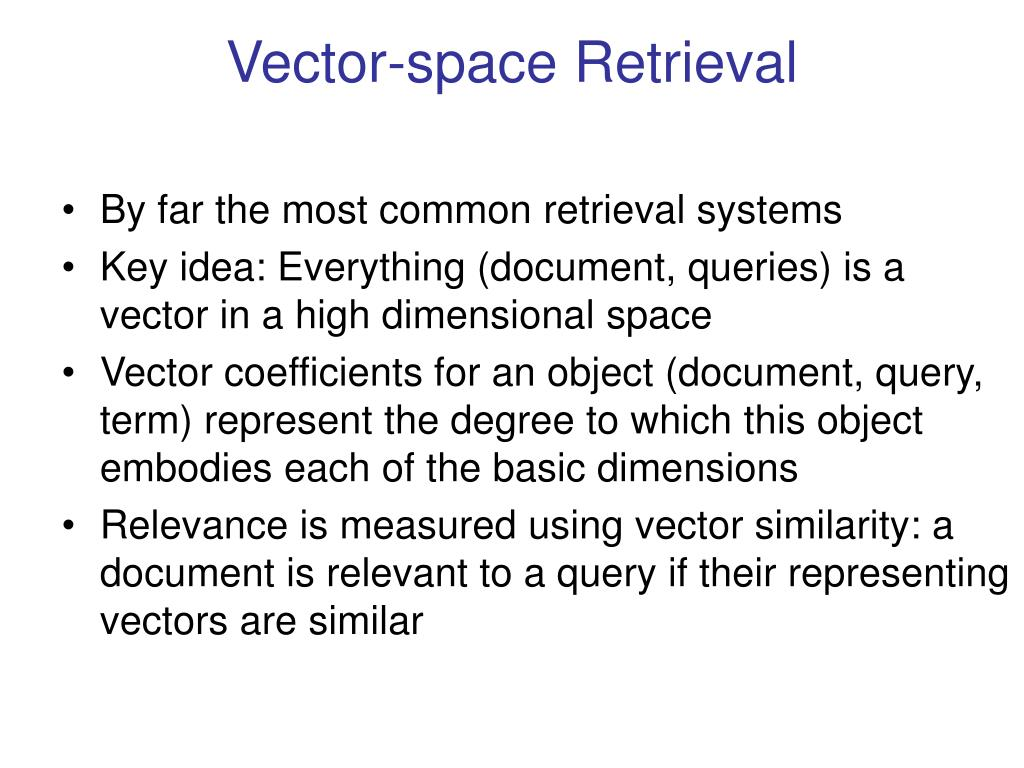 Vector-space Retrieval