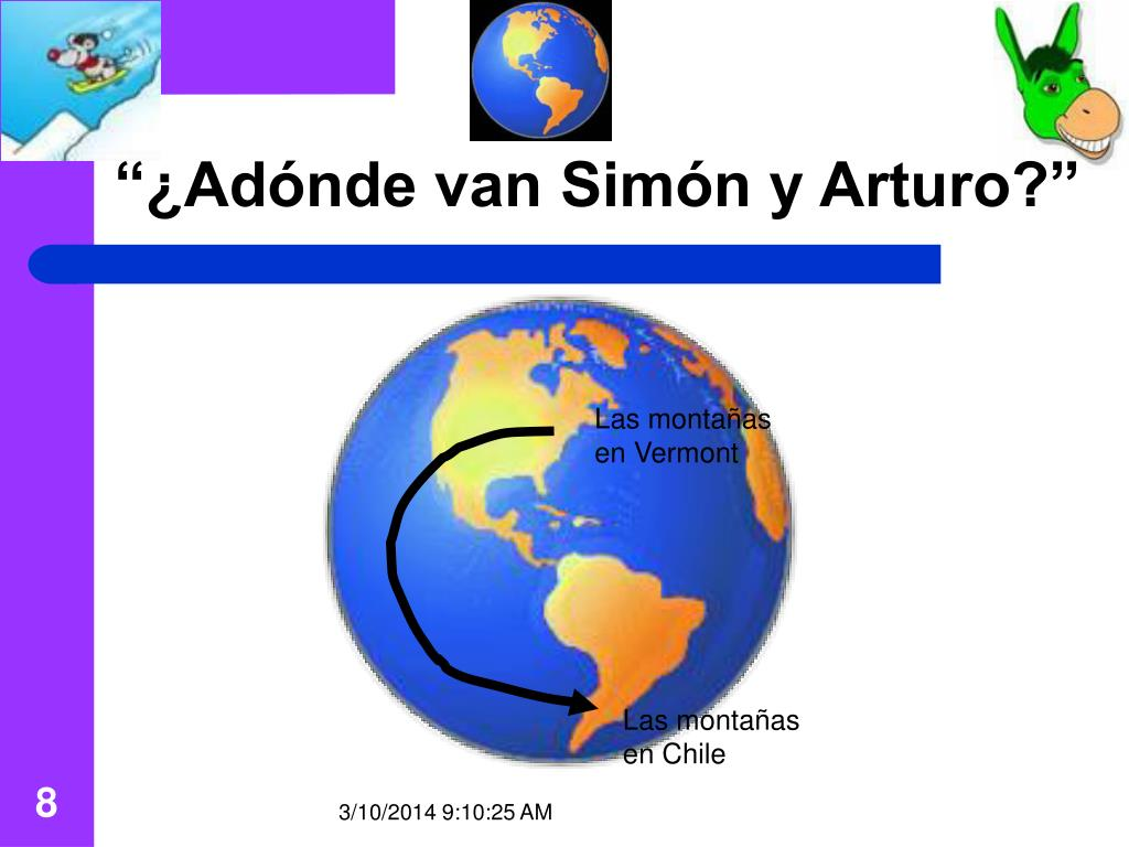 """""""¿Adónde van Simón y Arturo?"""""""