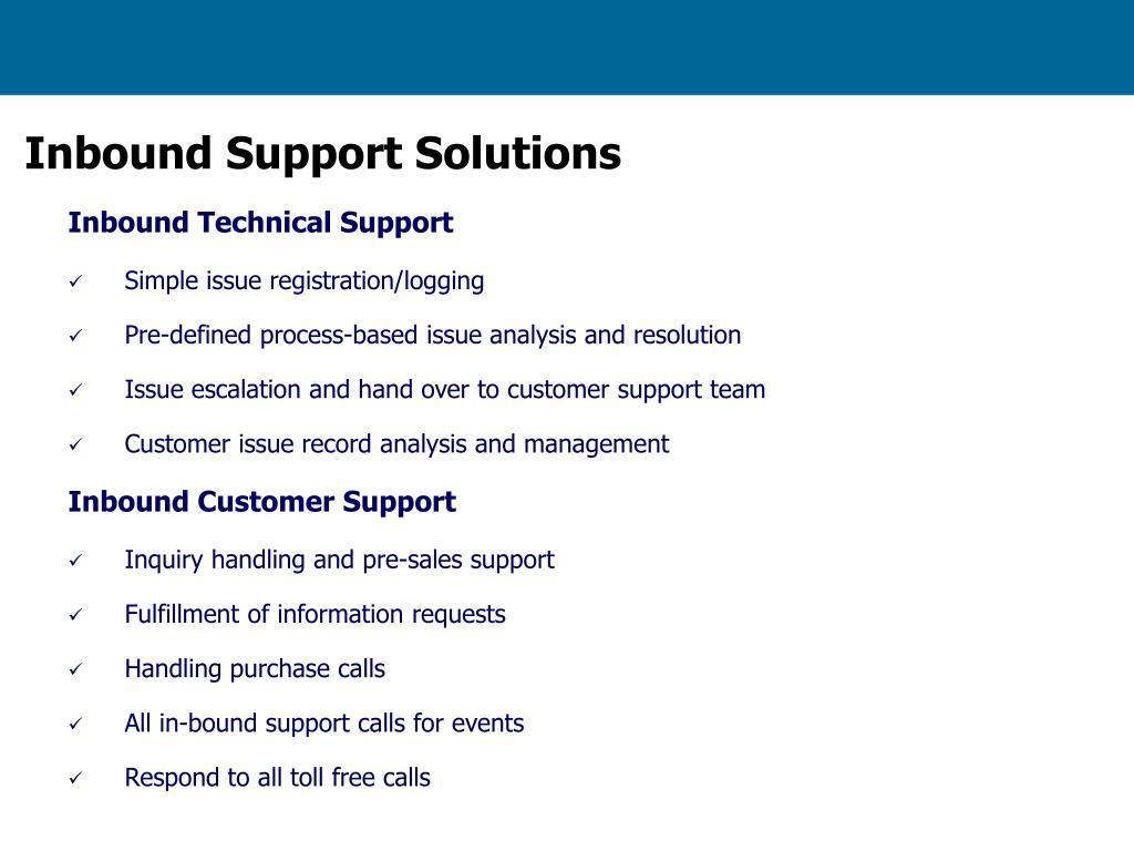 Inbound Support Solutions