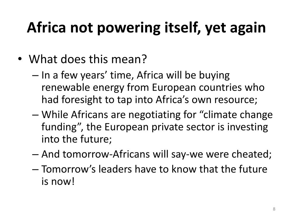 Africa not powering itself, yet again