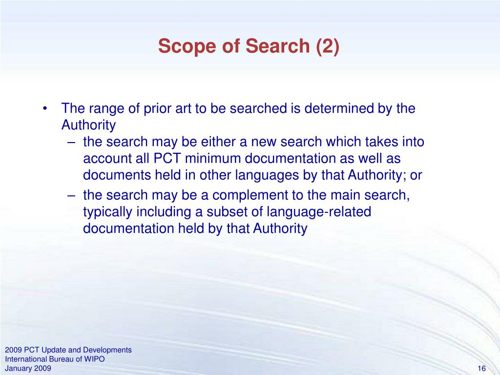 Scope of Search (2)