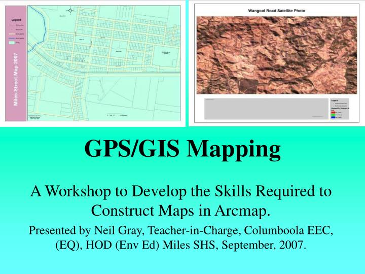 Gps gis mapping