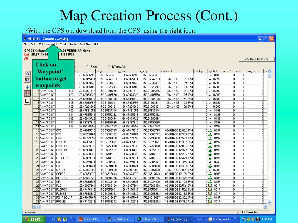 Map Creation Process (Cont.)