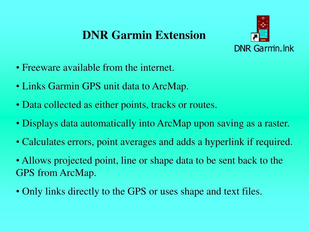 DNR Garmin Extension