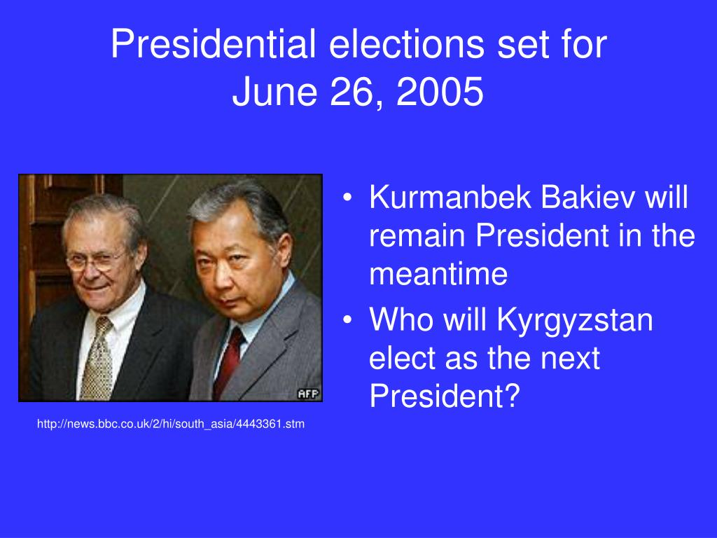 Presidential elections set for