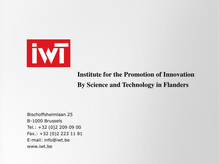 Institute for the Promotion of Innovation