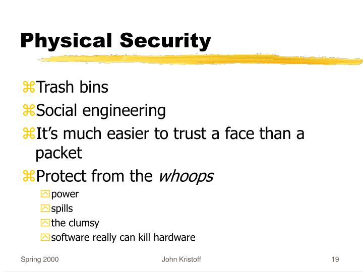 Physical Security