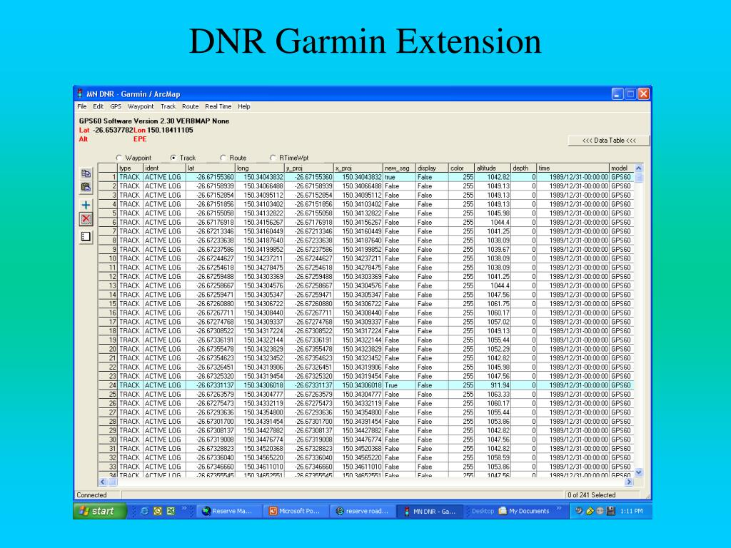 DNR Garmin Extension
