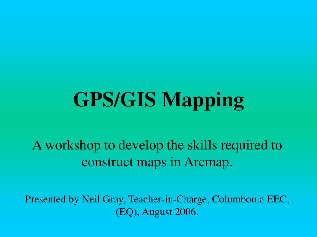 GPS/GIS Mapping