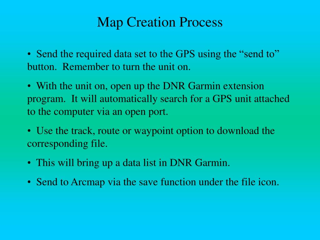 Map Creation Process