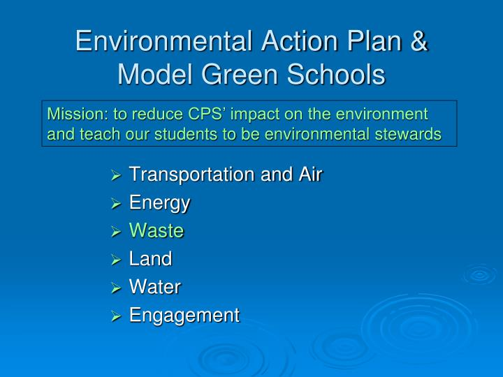 Environmental action plan model green schools