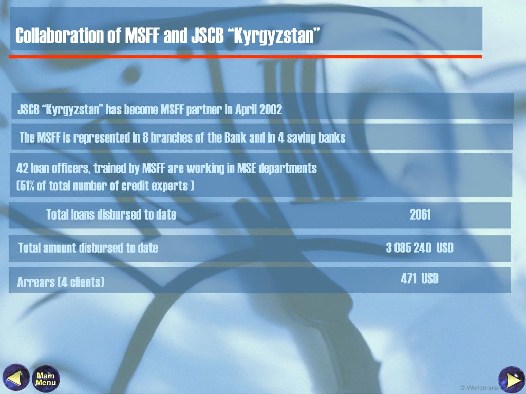 "Collaboration of MSFF and JSCB ""Kyrgyzstan"""